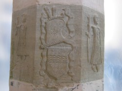 Figures on the pillar