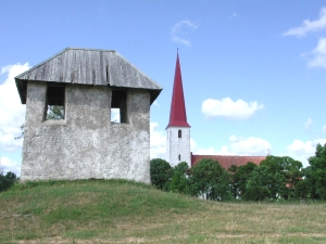 The belltower and church